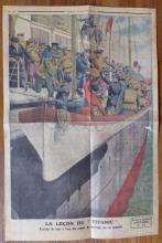 Le Petit Journal TITANIC Engraving, June 1912