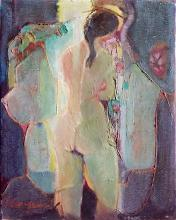 Old Fauve Oil like Camille Hilaire Woman Nude, 1960's