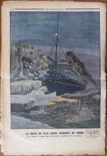 Le Petit Journal TITANIC Engraving, April 1912