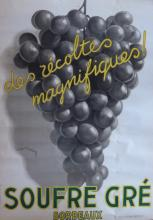 LEON DUPIN Poster Grapes from Bordeaux, French 1930