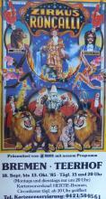 JORG HUBER Poster Zircus Roncalli, German 1985