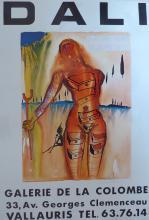 SALVADOR DALI Poster Galerie de la Combe, 1982