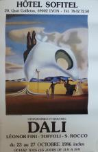 SALVADOR DALI Poster Hotel Sofitel, 1986