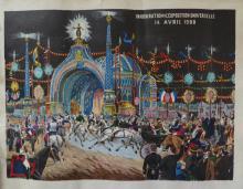 Antique Color Engraving 1900 Exposition in Paris