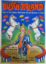 Poster BUSCH-ROLAND Circus, Berlin 1984