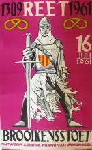 VRIJ van ZEGEL Poster Brooikensstoet, 1961