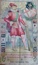 J. de GREVE Poster Cent. Independence Belgium, 1930