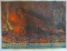 P. NOMELLINI Poster Parisina, Milano 1933