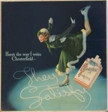 CHESTERFIELD Cigarrettes Poster 1940's