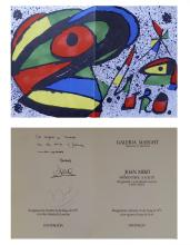SIGNED Miro dossier Galerie Maeght - 1978