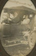 Antique Photo Automobile with Frame