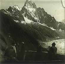 Antique Stereo Glass Photo Glacier 1890s - 1920s