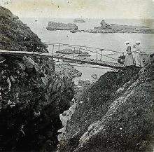 Antique Stereo Glass Photo Bridge 1890s - 1920s