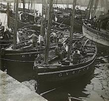 Antique Stereo Glass Photo Port Ships 1890s - 1920s