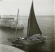 Antique Stereo Glass Photo Boat 1890s - 1920s