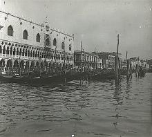 Antique Stereo Glass Photo Venice 1890s - 1920s