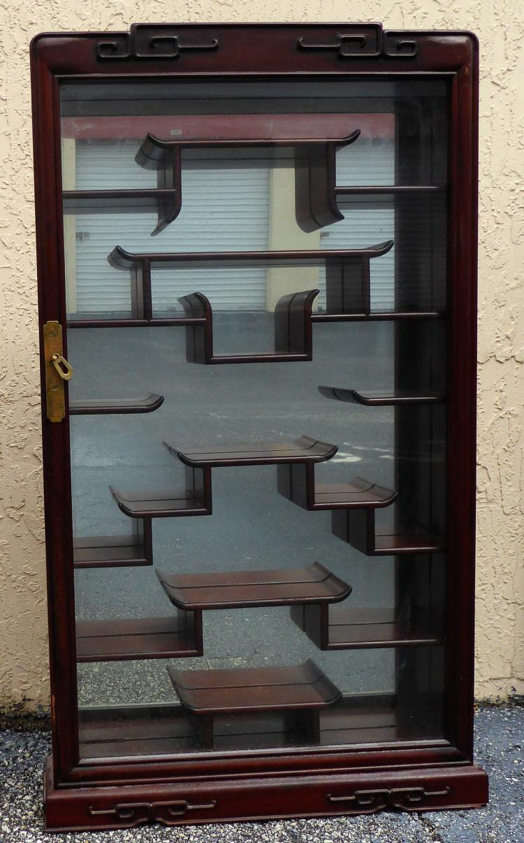 Vintage Chinese Wall Mounted Curio Cabinet Display