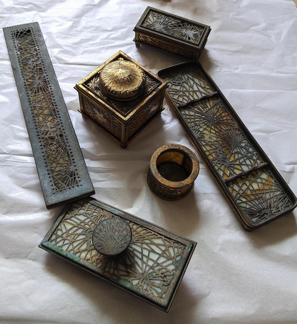 Antique Tiffany Studios Desk Set