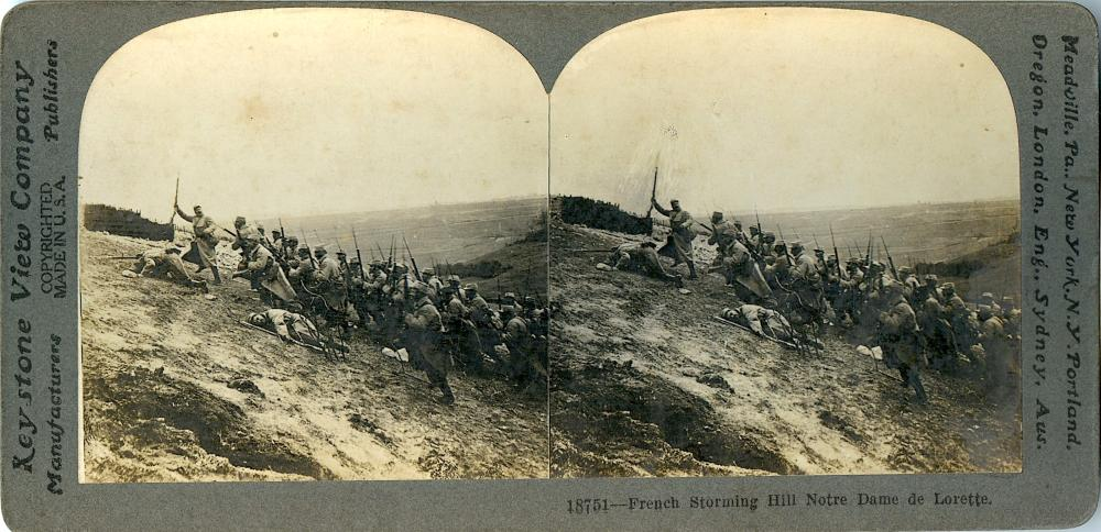 Antique Real Photo Stereoview Military WWI