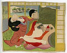Vintage Quality Taisho Period Ukiyoe Shunga Print.