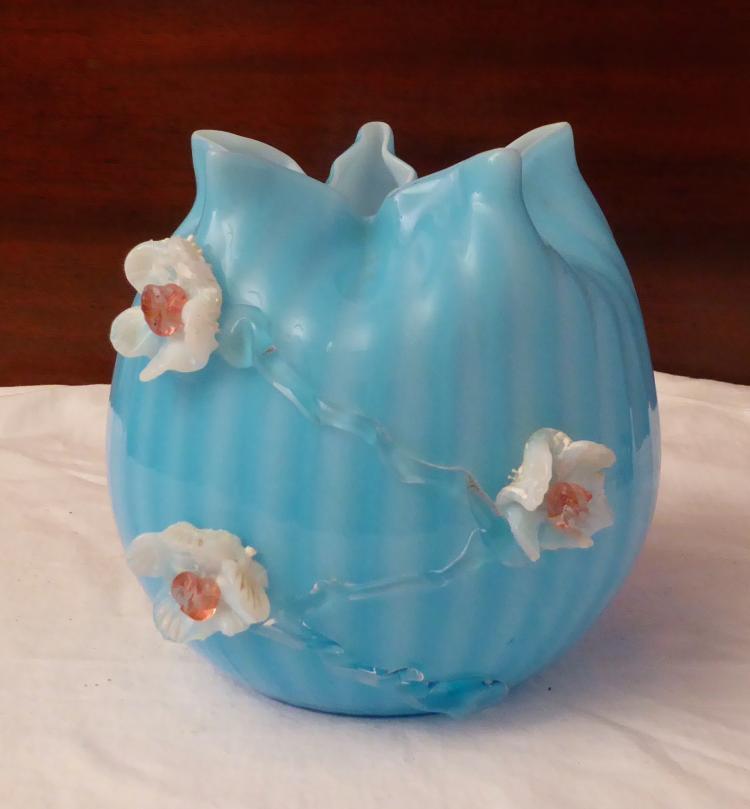 vintage venetian glass bowl blue and white. Black Bedroom Furniture Sets. Home Design Ideas