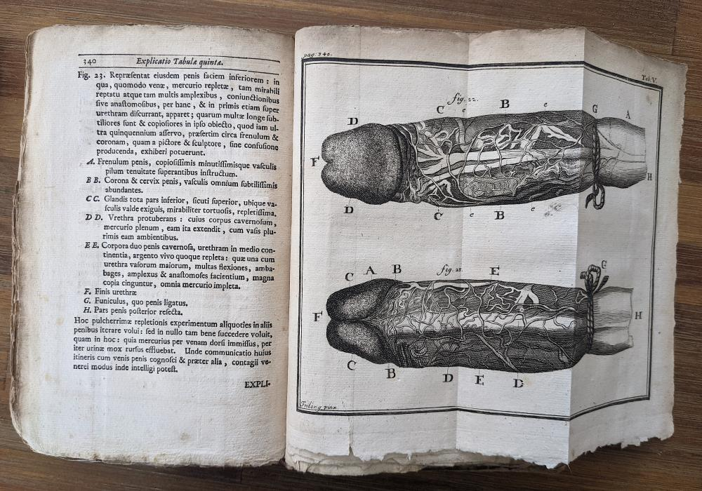 Antique Book Medical Book HEISTER LAURENCE Anatomy, 1727