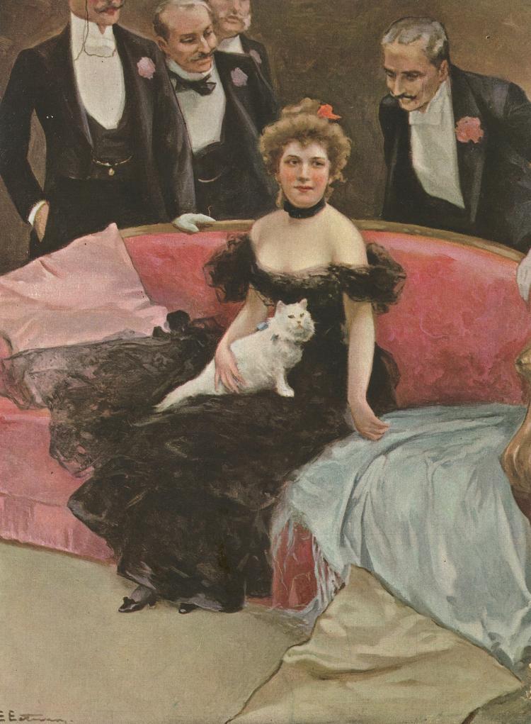 E. ESTEVAN - Modernism Illustration Blanco y Negro, 1907
