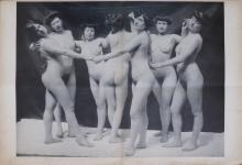 ALEXANDRE CARDUNET Large Photogravure Nudes, 1890's