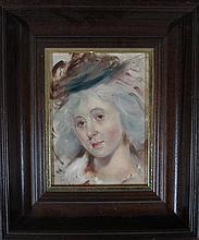 Oil Portrait of a fair lady F.H. Kaemmerer