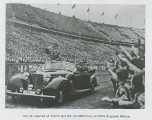 Silver Reprint 1975 Hitler Arrives Stadium, Berlin