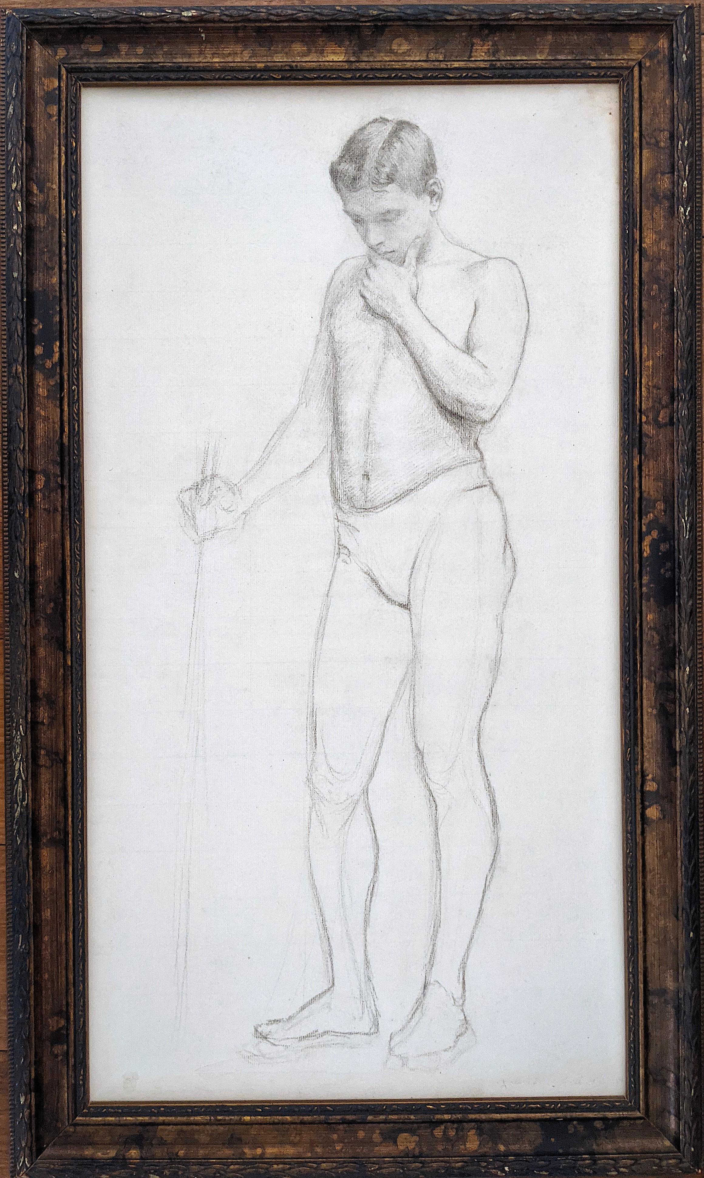 Antique Original Drawing Nude ASHCAN SCHOOL, New York