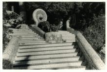 Antique Photo Detail View Park Guell Gaudi, 1954