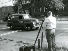 Rare Photo Surveyor Regal Sausage Truck, 1955
