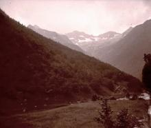 Rare Antique Stereo Glass Photo Pyrenees, 1927