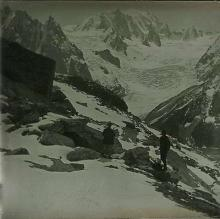 Rare Antique Stereo Glass Photo Glacier, 1910s
