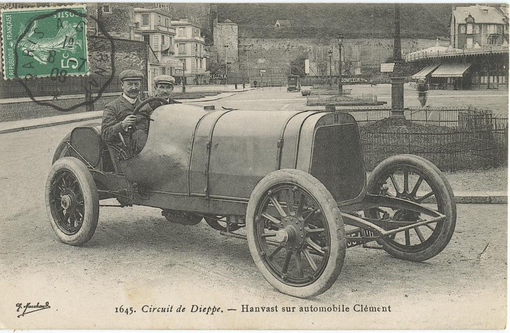 Antique / Vintage Postcard Car Racing Auto