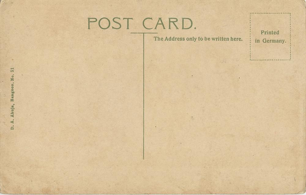 Antique / Vintage Postcard Madras Sadhu