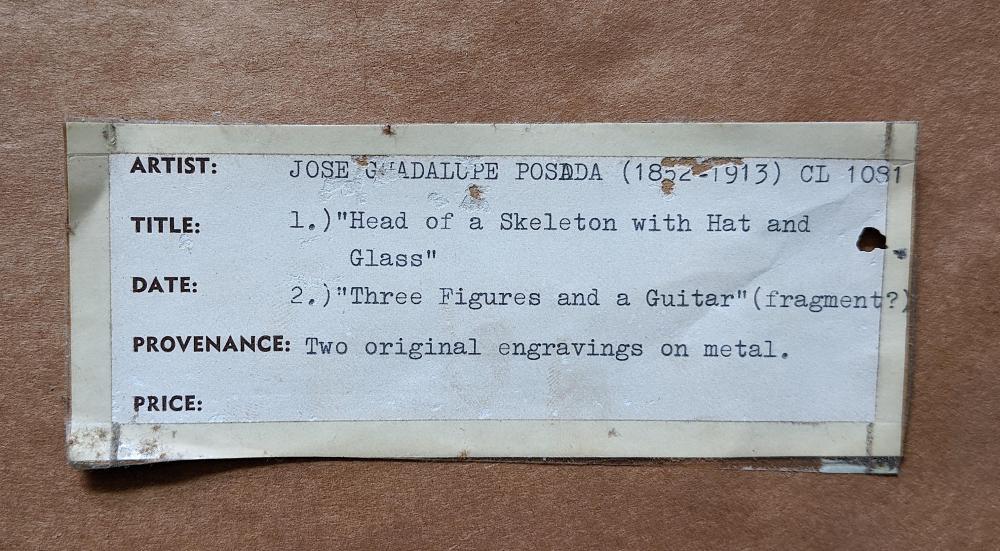 JOSE GUADALUPE POSADA (1852-1913) Set Of 2 Relief Engravings On Metal.