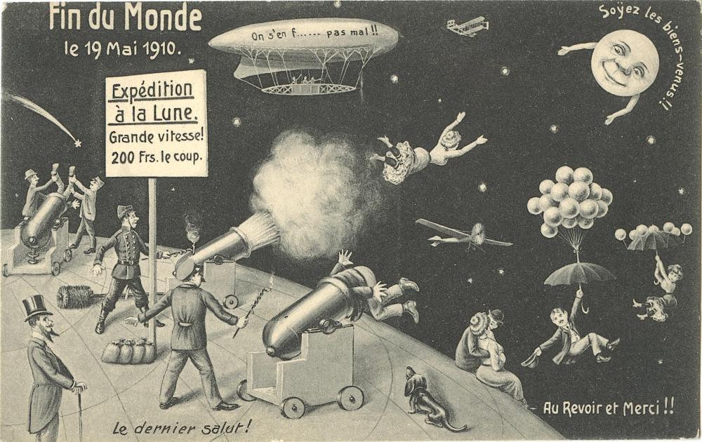 Antique / Vintage Postcard Find Du Monde, 1910