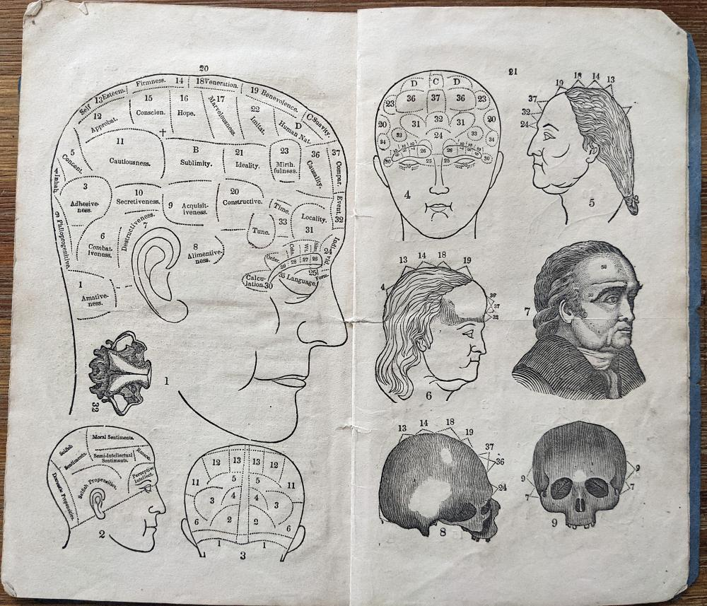 Extremely Rare Phrenology Booklet, 1838