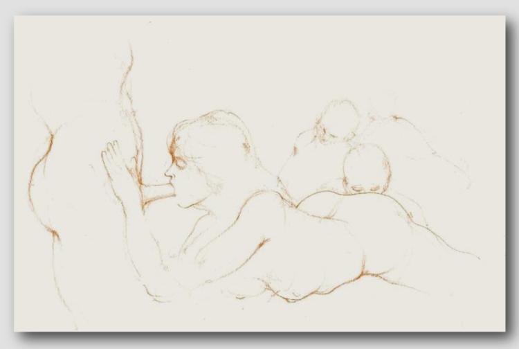 RAFAEL DUSSAN (1957 - ) Authentic Erotic Sanguine - Important!