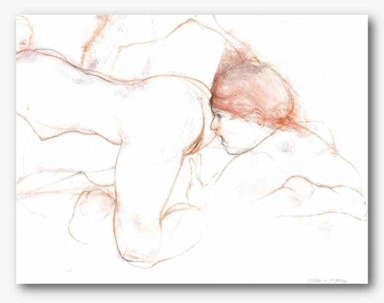RAFAEL DUSSAN (1957 - ) Authentic Erotic Drawing Mixta - Important!