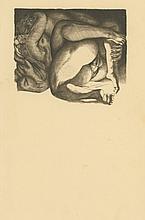 Rare Antique Modernist Erotic Engraving