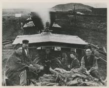 Gelatin Photo Central Pacific Locomotive, Utah 1869