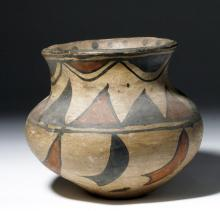 19th C. San Ildefonso Pueblo Pottery Jar