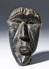 20th C. African Bassa Carved Wood Gela Mask