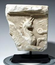 Lovely Roman Marble Fragment of Sarcophagus w/ Griffin