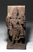 Rare Indian Sandstone Relief of Brahma
