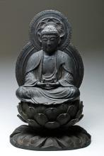 18th C. Japanese Wood Dhyana Buddha