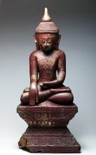 18th C. Burmese Gilded Wood Buddha, ex-Audry Meadows